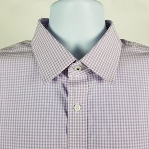 Nordstrom Tech-Smart Traditional Fit Purple Check